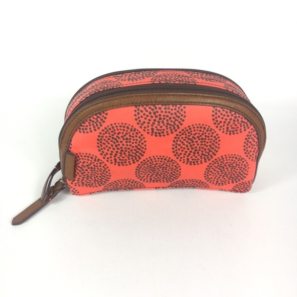Fossil Handbags - Fossil cosmetic case Leah Coral Brown